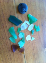 sea glass and mystery find