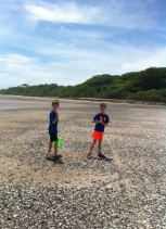 sea glass hunt with my brother