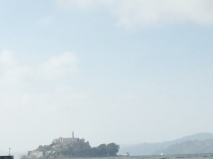 Alcatraz on water taxi